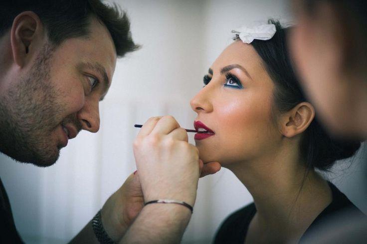 """Din culisele clipului """"Inevitabil va fi bine"""". #makeup by Alex Abagiu."""