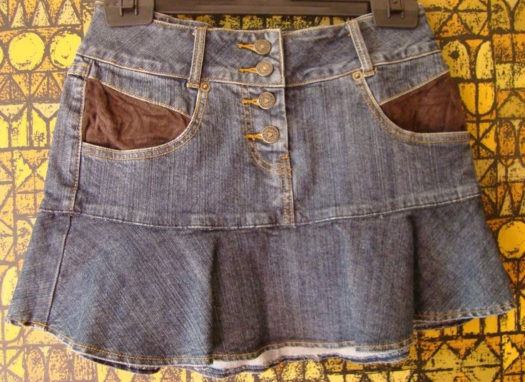 MINI GONNA jupe rock skirt jeans DENIM blu VOLANT bottoni fibbia MORGAN S 42