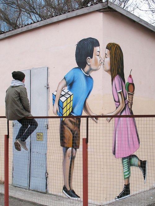 Наэтой неделе информация оновом творении знаменитого граффитиста стала едвали неглавной новостью изКрыма.