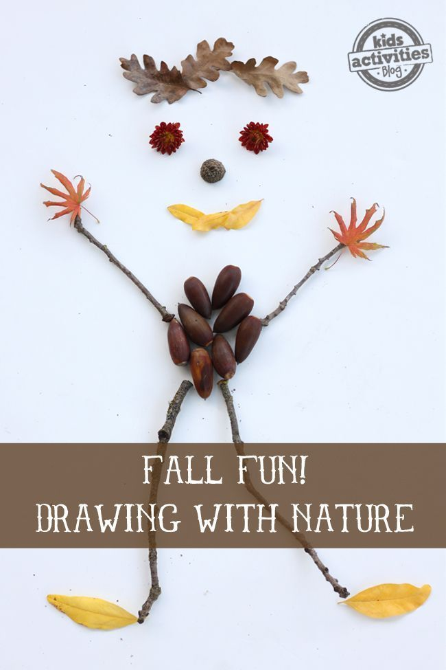 Fall Activity for Preschoolers: Drawing with Nature. What will you make with your kids?