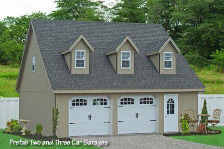 25 best ideas about prefab garages on pinterest garage for Prefab double garage