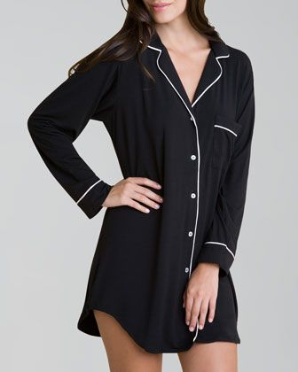 Gisele Sleepshirt by Eberjey | Get these #pajamas from #NeimanMarcus with FREE 2-day shipping, FREE returns & a FREE ShopRunner.com membership when you sign-up with your #Amex Card HERE: www.shoprunner.com/americanexpress