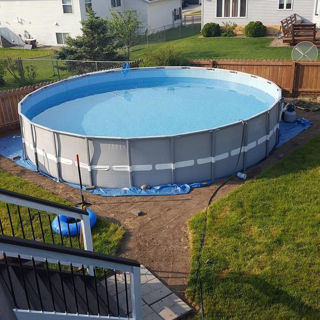 12 Best Pool Images On Pinterest Above Ground Pool Landscaping Backyard Ideas And Above
