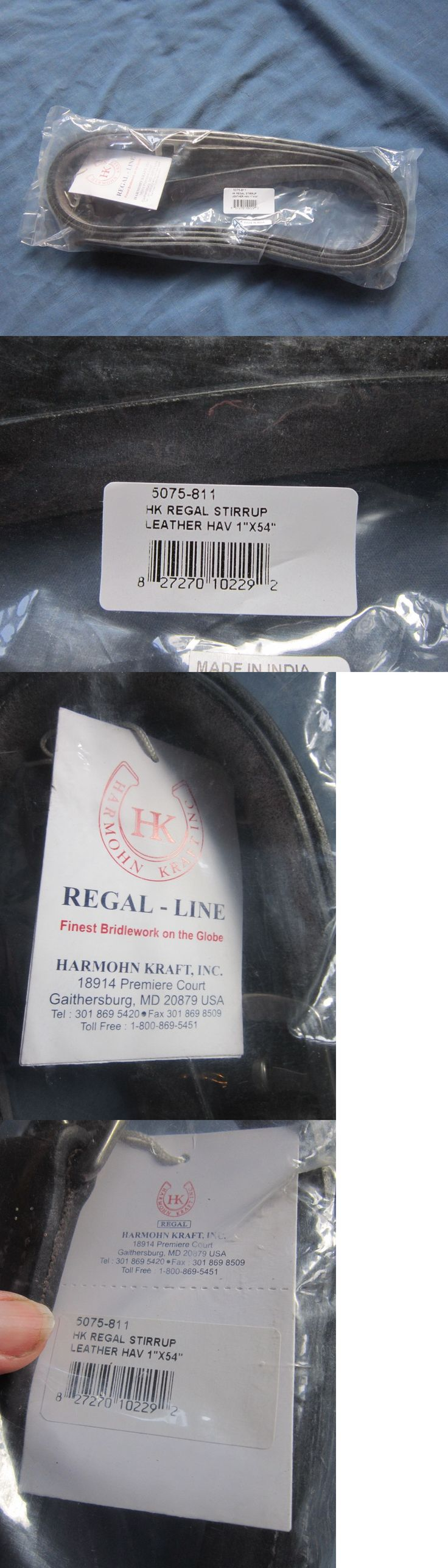 Stirrup Leathers 183380: 54 X 1 Havana Brown Stirrup Leathers Harmohn Kraft Regal-Line New In Bag BUY IT NOW ONLY: $48.0
