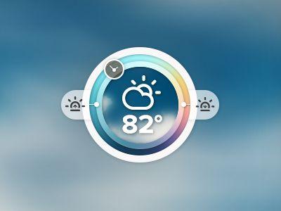 Weather widget by Ben Tautfest