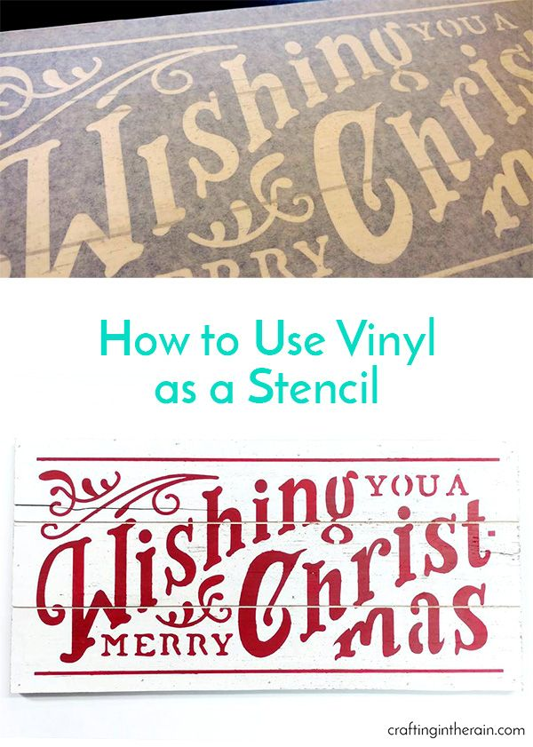 Make this cute Christmas sign with a file you can find in Cricut Design Space. Plus, tips on how to use vinyl as a stencil.