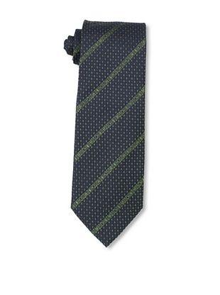 Moschino Men's Logo Stripe Tie, Blue/Green