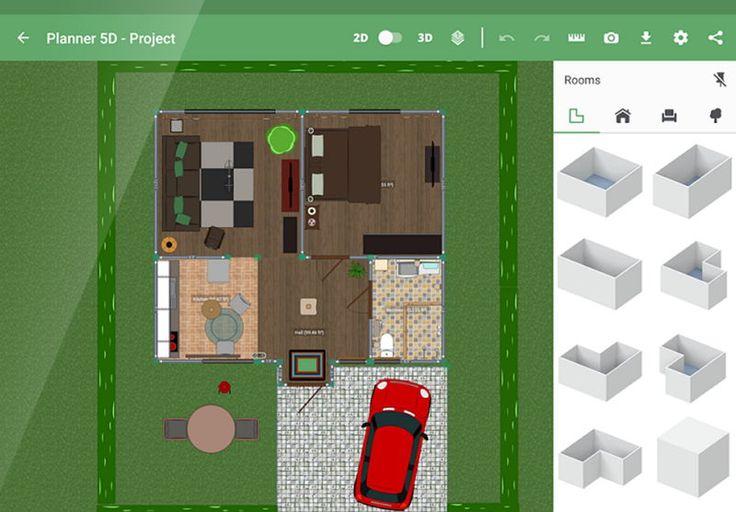Crea bonitos diseños interiores y exteriores de casas con Planner 5D