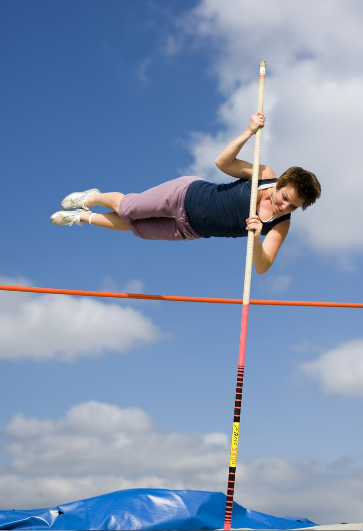 The third sport I do, is track and field. I quit softball to do track and field. I like it and I also polevault