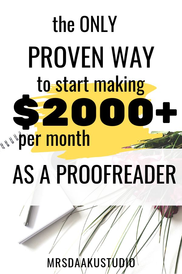 How to become a proofreader and earn $40k a year