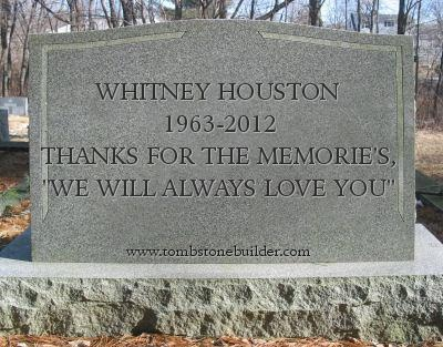 Whitney Houston Headstone