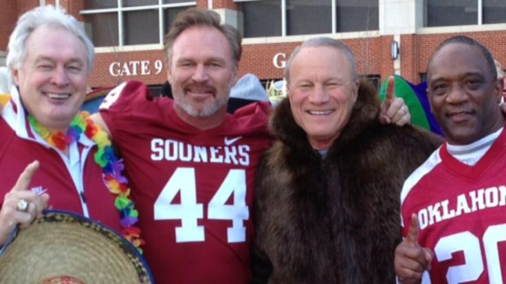 Barry Switzer. Billy Sims. Steve Owens. Brian Bosworth. Great photo! #47STRAIGHT