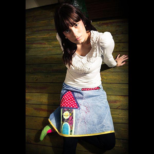 Origo riflová sukňa Nrdomček Skladom,  použitý material: bavlna, vlna, akryl.  velkost:38  Foto: gabriel Kosmaly Jr