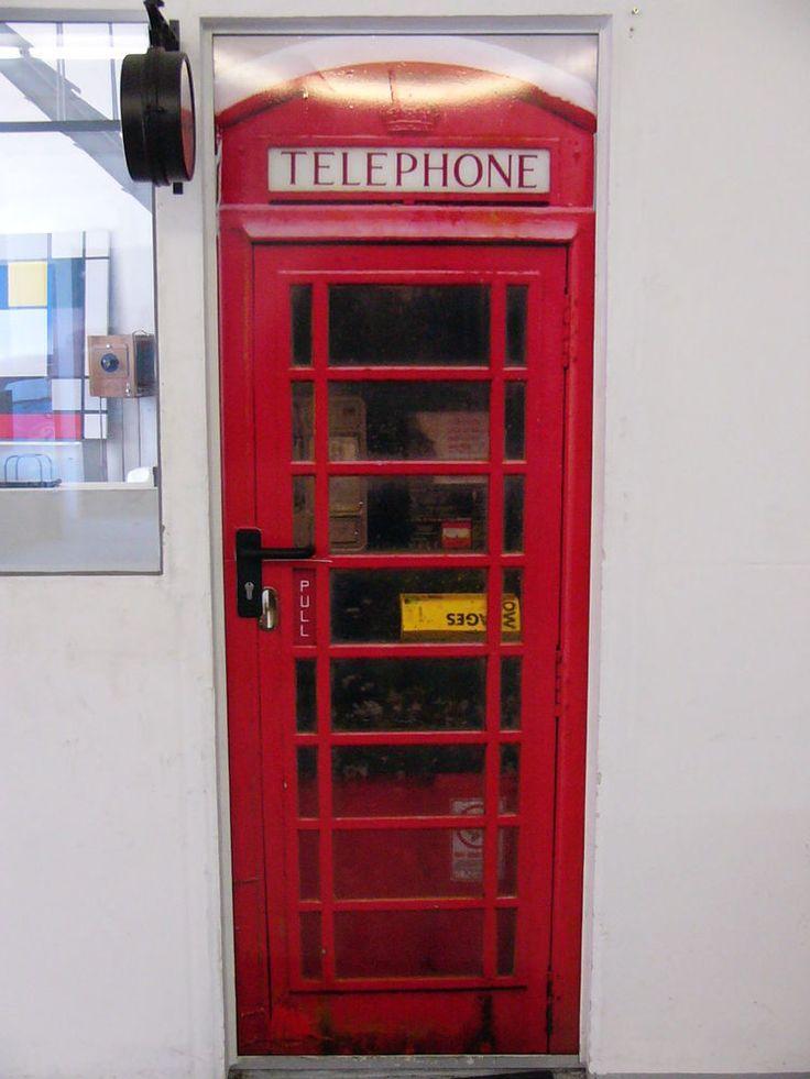 Englische Telefonzelle als TÜRFOLIE selbstklebend 70 x 200 cm in Heimwerker, Fenster, Türen & Treppen, Türen | eBay