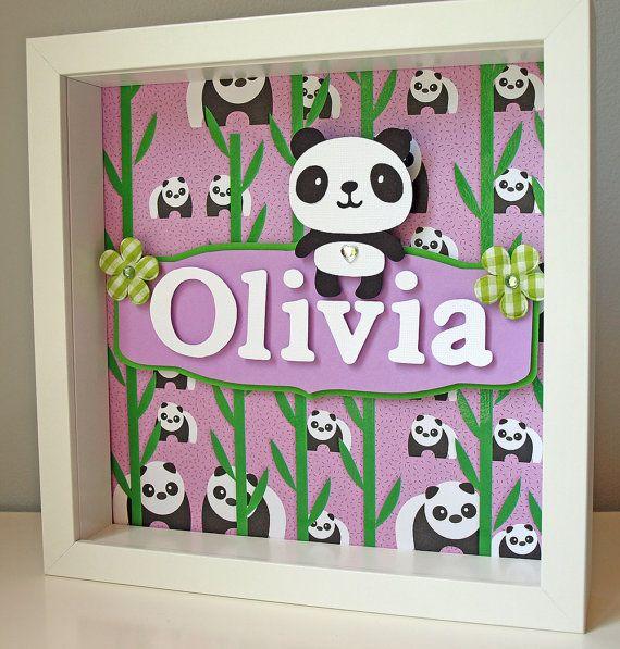 Cute Purple And Green Panda Art Personalized Children 39 S