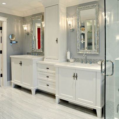 Double Vanity With Towers Design Heres Another Unit Made Up Of Three Individual Pieces