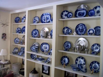 Quite a collection of Flow Blue China