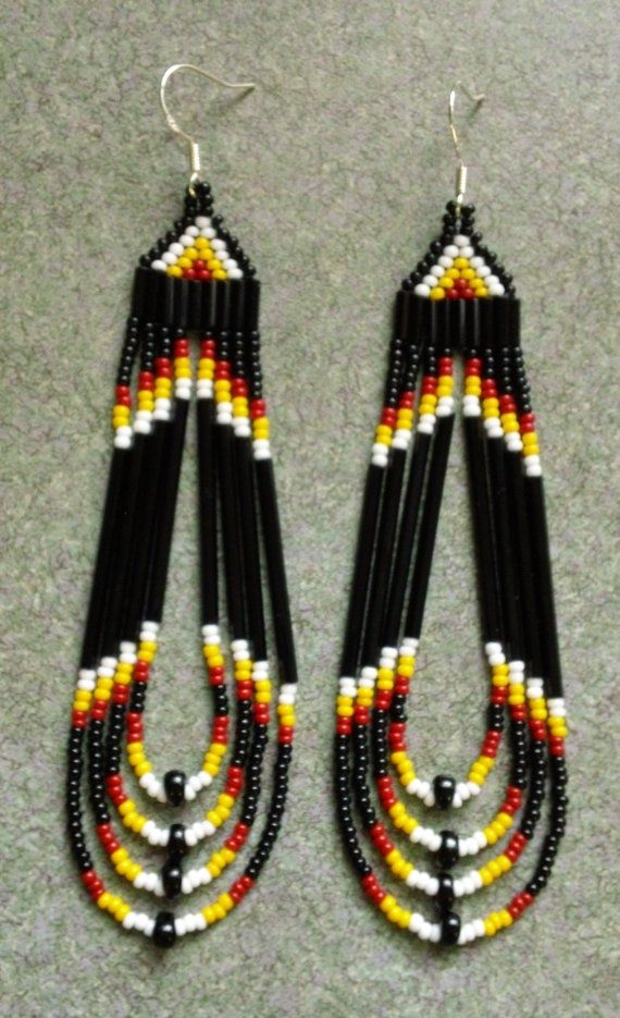 native beaded earrings instructions - Google Search