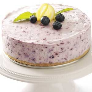 No-Bake Blueberry Cheesecake Recipe from Taste of Home -- shared by Ken Gallagher, Hastings, Nebraska