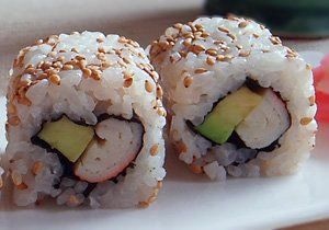 Sushi de California. Enlace a recetas japonesas.