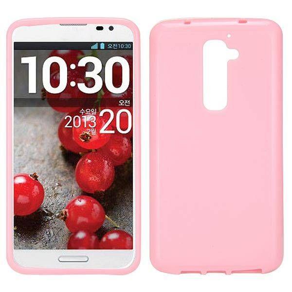Roze TPU hoesje voor LG G2