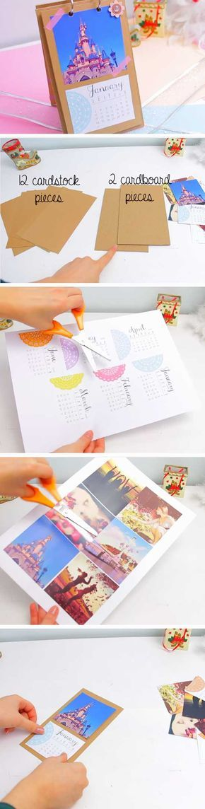 Photo Calendar   Last Minute DIY Christmas Gifts for Mom   Easy to Make Christmas Gifts