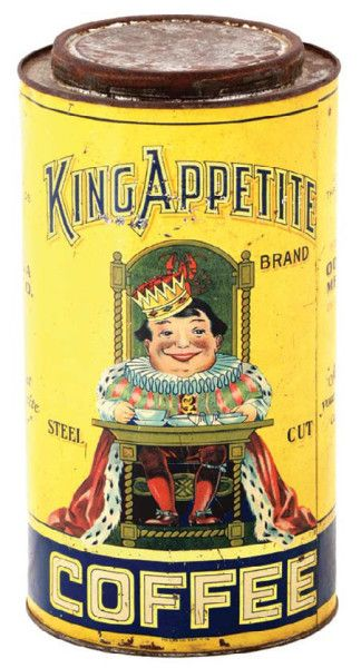 King Appetite Coffee Tin | Antique Advertising Value and Price Guide