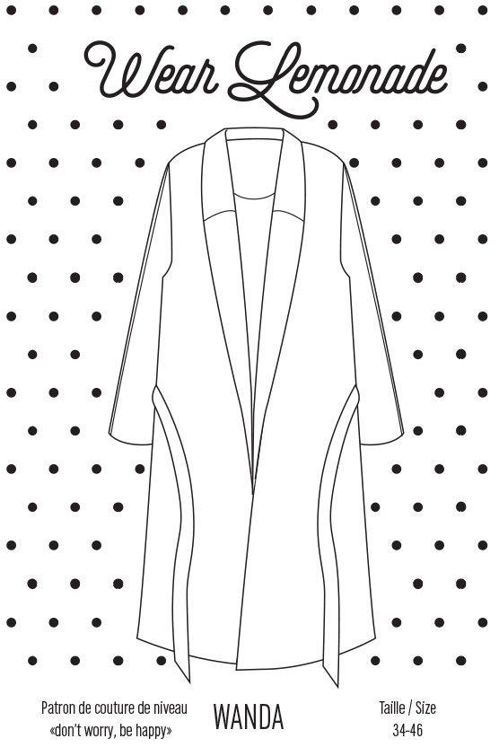 Patron de couture Wanda - PDF http://www.wearlemonade.com/fr/patrons/117-patron-de-couture-wanda-pdf.html