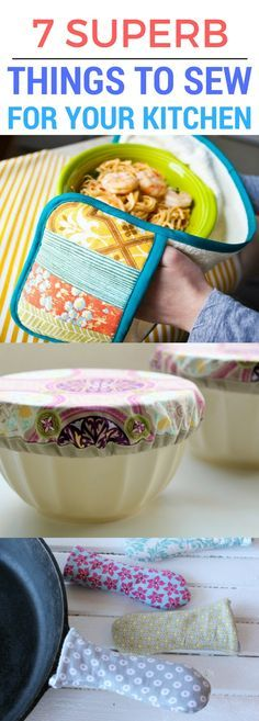 Some of the BEST and most USEFUL things that you can sew for your kitchen