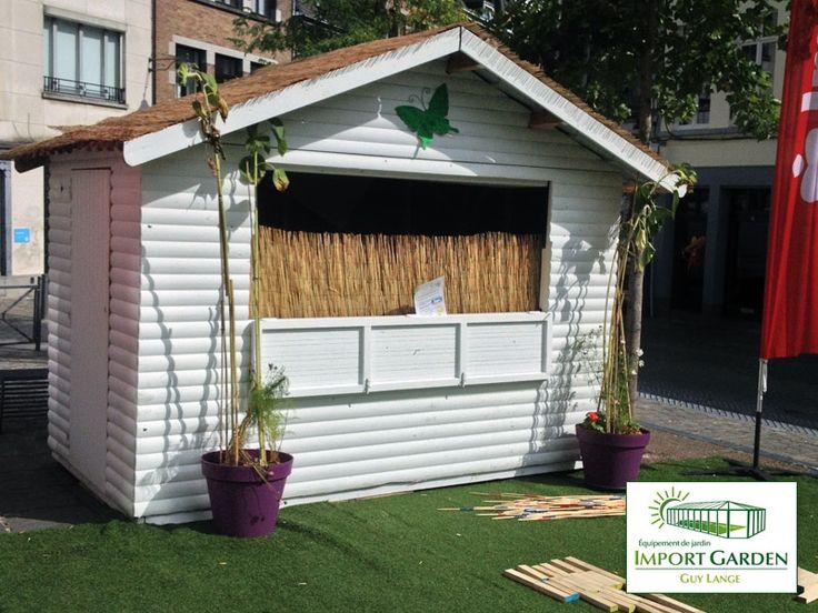 Import Garden a installé ses #chalets en bois aux Jardins d'Été! #Mons2015