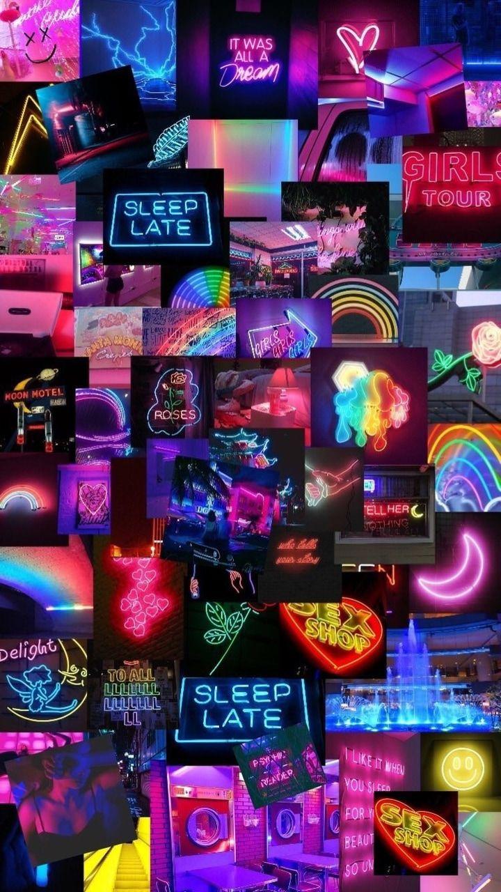 Cool Neon Wallpapaer Wallpaper Mobile Iphone Wallpaper Tumblr Aesthetic Wallpaper Iphone Neon Rainbow Wallpaper Iphone