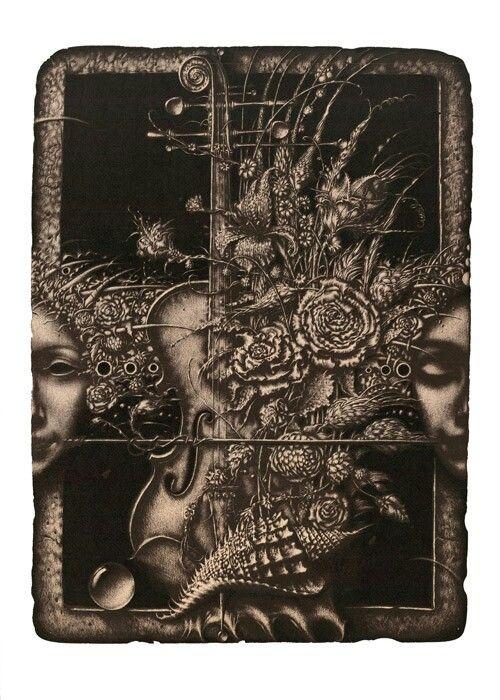 "R. Sustov  ""Transition"" lithography 42/62cm. 2014"
