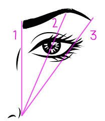 how to draw eyebrows evenly