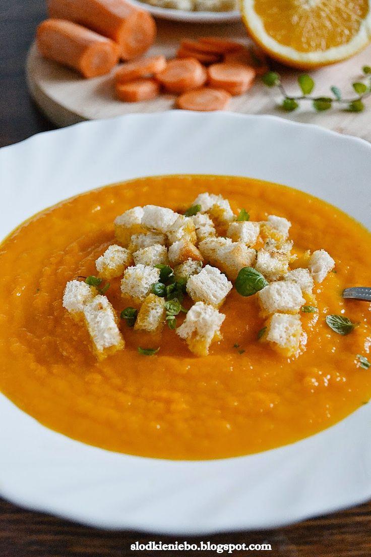 Zupa krem z marchwi i pomarańczy http://slodkieniebo.blogspot.com/2014/12/zupa-krem-z-marchwi-i-pomaranczy-z.html