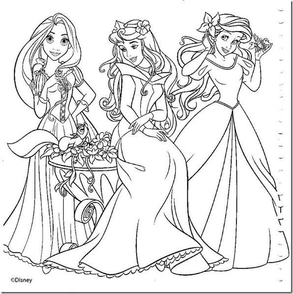 17 Desenhos Das Princesas Disney Para Colorir Ou Pintar