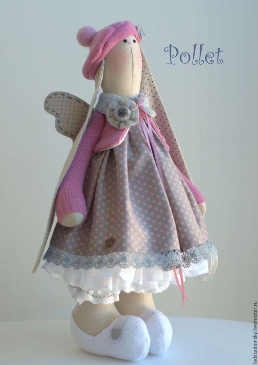 Игрушки животные, ручной работы. Ярмарка Мастеров - ручная работа. Купить Зайка-ангелочек   Поллет ( Pollet) - текстильная игрушка 38 см. Handmade.