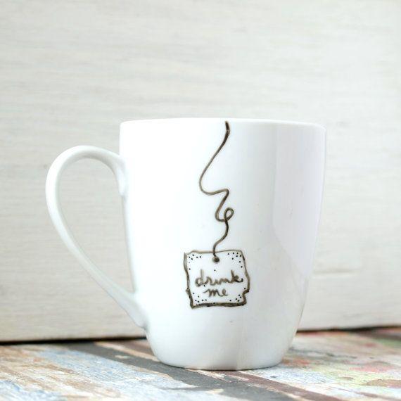 """Alice in Wonderland """"Drink Me"""" Mug on Etsy, $14.00"""