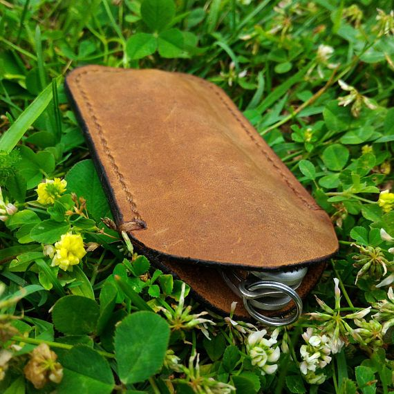 Italian leather Victorinox pocket knife sleeve, folding knife case, leather pocket knife sheath, every day carry, EDC, leather knife holster