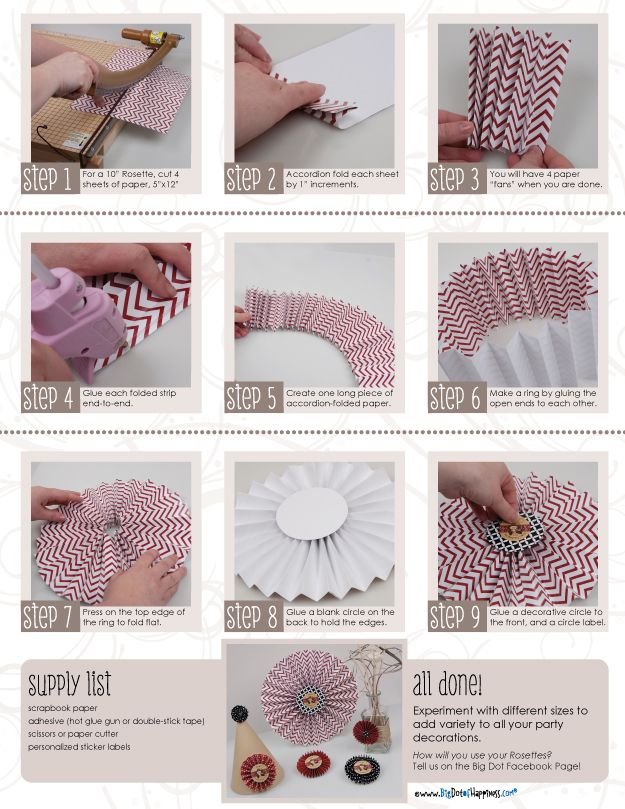 Paper Fan Tutorial #paperrosettehowto #howtomakeparty