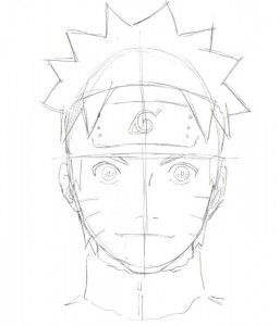 how to draw naruto face step by step