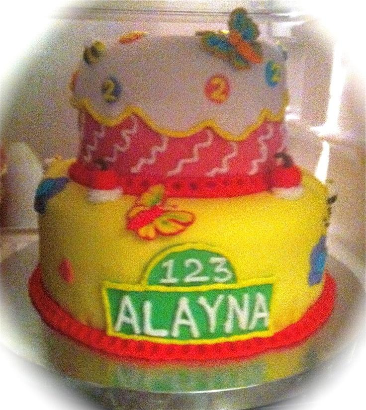 Elegant sesame street cake