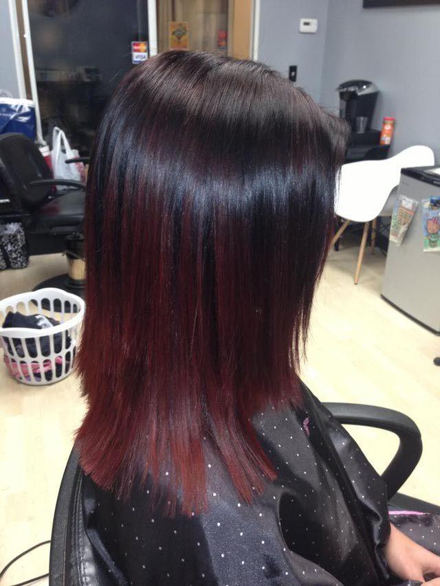 cherry omre hair | Chocolate Cherry Hair Color