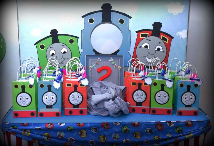 Thomas And Friends Birthday Party Ideas Bags Goodie