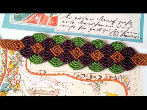 ▶ A Colorful Macrame Bracelet - Macramé Tutorial [DIY] - YouTube