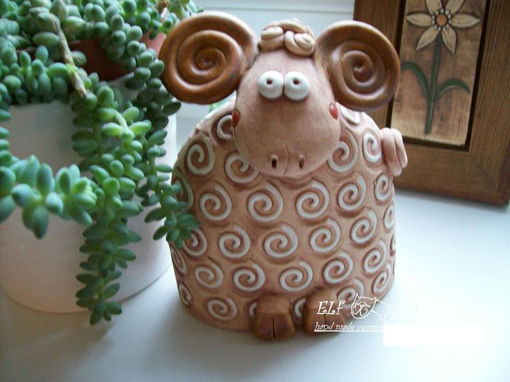 zvonek Beran Keramický ručně modelovaný zvonek,glazovaný barvami s efekty, velikost...16 cm
