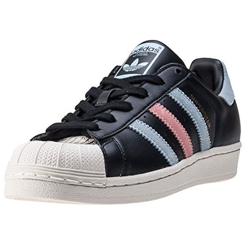 adidas Superstar W Womens Trainers Black Blue  8 UK *** Amazon most trusted e-retailer #AdidasFashion