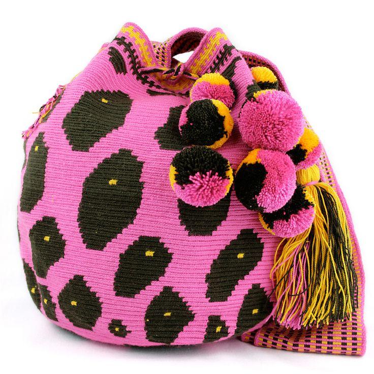 Animal print bucket bag.