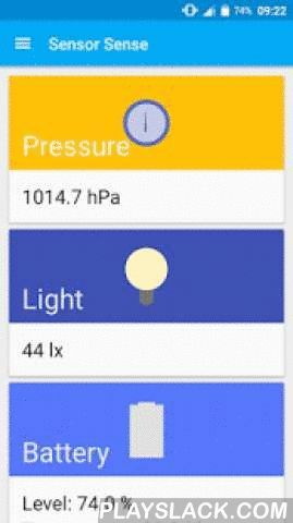 Sensor Sense  Android App - playslack.com , Sensor Sense is an Android app that welcomes you in the world of data by showing you the output of all sensors of your Android device. Check the temperature, humidity, air pressure, gravity, light, acceleration and a lot more.Most sensors also display a chart with the output of the sensor so you can monitor changes during the time.Home screen widgets for pressure, temperature and humidity sensors.You can even capture the values and export them to…