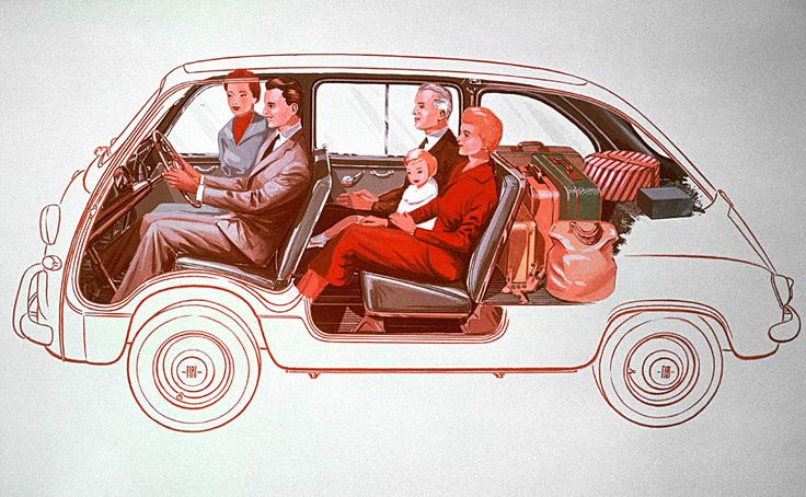 space age car interior #vintage #car #family
