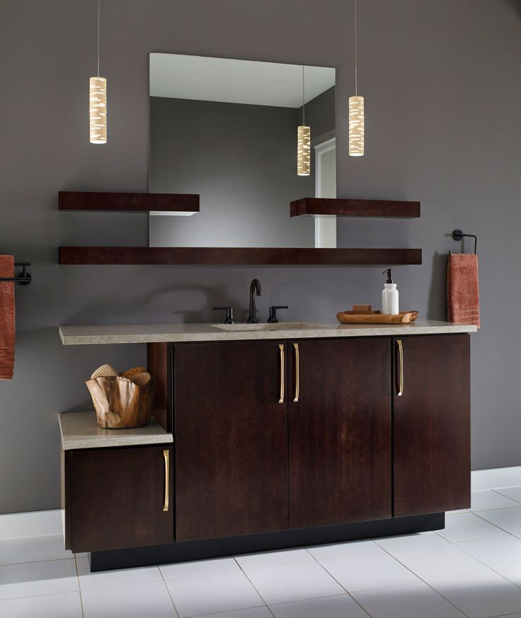 Designed with a balance of usability and style this kraftmaid bathroom works for the whole - Kraftmaid bathroom cabinets catalog ...